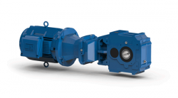 Water-cooled angle parallel shaft geared motor